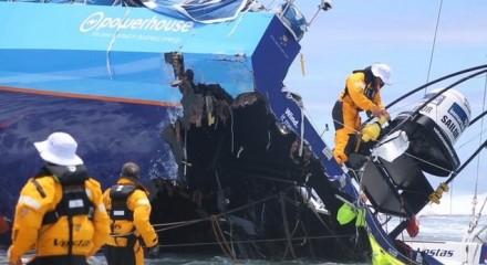 Volvo Ocean Race crash